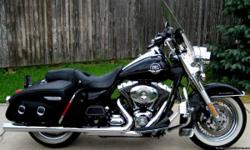 2010 HARLEY DAVIDSON FLHRC ?ROAD KING CLASSIC?, FACTORY BLACK WITH ONLY 6,912 ORIGINAL MILES, MATURE OWNER, UPGRADED TO HARLEY DAVIDSON ADJUSTABLE SHOCKS, PYTHON SLIP-ONS, QUICK RELEASE STORAGE BOX, CRUISE CONTROL, 2 SETS OF KEYS, ORIGINAL OWNERS MANUAL,