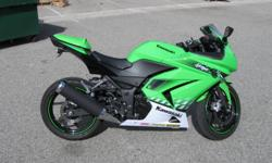 2010 KAWASAKI NINJA 250R - SPECIAL EDITION GREEN - $3650 MINT condition. Never been dropped. 2750 miles. Oil changed at 50, 200 & 800 miles. Didn't rev past 5K till 800 miles. 55-65mpg! GREAT beginner bike. Woodcraft clip-on handlebars for a lower riding