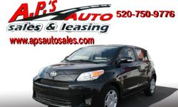 CLICK HERE FOR MORE IMAGES AND INFO: http://www.apsautosales.com/vehicle-details/4f18ba04c5df448b8dee781581c0140a (520) 750-9776 A.P'S Auto Sales 3747 E. Speedway Blvd. Tucson, AZ 85716 2010 Scion xD 4-Door Hatchback Exterior Color: Black VIN:
