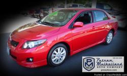 2010 Toyota Corolla S Sedan  automatic, 4 spd w/overdrive front wheel drive 4 door alloy wheels cruise control side air bags power door locks front and rear head curtain air bags daytime running lights air conditioning traction control power
