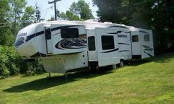 """Vehicle Type: Fifth Wheel Make: Keystone Model: Montana 3750 Fl Year: 2011 Exterior Color: White Doors: Two Door Vehicle Condition: Excellent Price: $61,000  Description: This 2011 Montana 3750fl For Sale, Fl Means """"front Living Room. Hickory"""