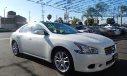 Welcome to 562 Auto Exchange at 13110 Lakewood Blvd Bellflower CA 90706. Come and take a look at this 2011 Nissan Maxima stock# 848501 White exterior tan interior. We offer multiple loan options with finance companies and credit unions that get you
