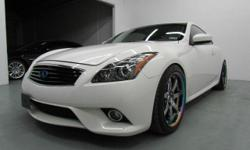 WOW BEAUTIFUL 2011 INFINITY G37X S AWD SPORT LOADED! V6 3.7 LTR PEARL WHITE EXT/BLACK INTERIOR SUPER NICE SUPER CLEAN! FACTORY WARRANTY GOOD UNTIL 2016 AND GET THISCARBON FIBER EXHAUST, CARBON FIBER COVERS BACK UP CAMERA AND BACK UP SENSORS A