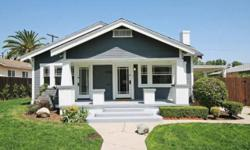 1923 craftsman house completely rehabbed in 2011, living sqft 1355, lot 7525, Elegant master suite French Door andbathroom, 1 bedroom and 1 bath, open floor plan, fireplace, living room, dining area, built-ins hardwood floors, large kitchen with eat