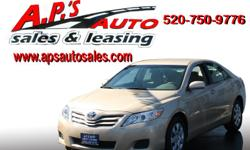 CLICK HERE FOR MORE IMAGES AND INFO (520) 750-9776 A.P'S Auto Sales 3747 E. Speedway Blvd. Tucson, AZ 85716 2011 Toyota Camry 4-Door Sedan VIN: 4T4BF3EK9BR150009 Interior Color: Tan Drivetrain: Front Wheel Drive Transmission: 6 Speed Manual Mileage: