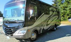 28.8 Storm it has two slideout the bedrom slides out the back. it has about 12,000 miles 2000 watt inverter You can see the motorhome by going to YouTube on the internet and then type 2012 28f storm, it shows all the features. It has a V10 ford