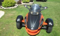 2012 Can-Am Spyder RS-S. THIS IS A LOW MILES CAN AM AND IS FUN AS ALL GET OUT TO DRIVE HANDLES LIKE A DREAM. Can-Am Red & Satin Black. MINT CONDITION.