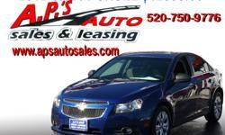 CLICK HERE FOR MORE INFO: http://www.apsautosales.com/vehicle-details/5facad07759040ddbbf1c979beb4762a (520) 750-9776 A.P'S Auto Sales 3747 E. Speedway Blvd. Tucson, AZ 85716 2012 Chevrolet Cruze LS 4-Door Sedan Interior Color: Gray Fuel: Gasoline VIN: