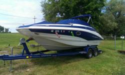 Here we have a 2012 Crownline Boats Eclipse 2. This boat is an awesome deal as it has only 39.7 hours and has been very well maintained and cared for. This boat has a little something for everyone with a pressure water system and marine head