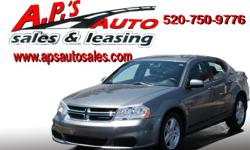 CLICK HERE FOR MORE IMAGES AND INFO (520) 750-9776 A.P'S Auto Sales 3747 E. Speedway Blvd. Tucson, AZ 85716 2012 Dodge Avenger 4-Door Sedan Fuel: Gasoline Interior Color: Black Engine: I4 2.4L DOHC Drivetrain: Front Wheel Drive VIN: 1C3CDZCB8CN219593