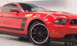 $517.00 monthly payment apply for credit here : https://vpix.us/credit/dealer/jordanmotors10west/ Clean Carfax! This beautiful 2012 Boss 302 is finished in Race Red, and is truly a magnificent sight! Equipped with all of the available options.