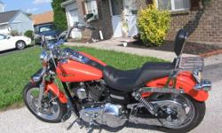 In excellent condition overall. All stock lighting replaced with LED lighting. Stock exhaust replaced with Vance Hines Big Dog. Stock wired wheels replaced with Harley Chrome Mag wheels. Front stock Forks replaced with Harley Chromed Forks. Stock