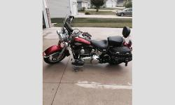 2012 Harley Davidson Heritage Softail Classic Beautiful Bike. Two Toned, Ember Red and Merlot. 103cc, Saddle Bags, Windshield, Backrest, low miles, Garage kept. $13,950.