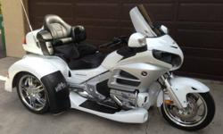2012 Honda Goldwing ABS, Premium Audio with XM, Cold Weather Comfort Package (Heated Seats, Heated Grips, and Foot Warmers) and Navigation package. MotorTrike Conversion. This Trike has always been stored covered inside of the garage on a Battery Tender.