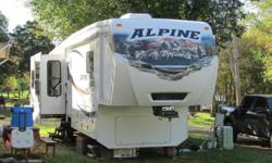 2012 Alpine Keystone 3555RL fifth wheel. 39 ft Top of the line, well maintained, gently used. We are ready to dosomething else and that means there is a deal here for you! Ck the www. our price is low...because we are serious