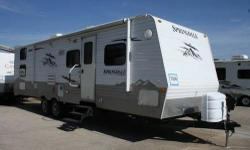 """For sale by owner. 2012 Keystone Springdale sleeps between 8-10 people. No Smoking, No Pets, In excellent condition. Asking $17,500.00. Length is 33ft. and Height is 10' 11"""". LP gas. Automatic levelers and Power hitch. Power side awning. Lots of storage"""