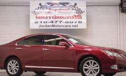 This Lexus ES350 is finished in Matador Red Mica and is a very elegant midsize luxury sedan. This baby comes with loads of options such as navigation, back up camera, heated and cooled leather upholstery, power seats, power mirrors, sunroof, automatic