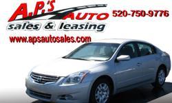 CLICK HERE FOR MORE IMAGES AND INFO (520) 750-9776 A.P'S Auto Sales 3747 E. Speedway Blvd. Tucson, AZ 85716 2012 Nissan Altima 2.5 S 4-Door Sedan Fuel: Gasoline Exterior Color: Silver Title: Clear Drivetrain: Front Wheel Drive Interior Color: Black VIN: