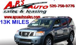 CLICK HERE FOR MORE INFO: http://www.apsautosales.com/vehicle-details/747d3a36b2704bb48d3ed1833b364961 (520) 750-9776 A.P'S Auto Sales 3747 E. Speedway Blvd. Tucson, AZ 85716 2012 Nissan Armada SV 2-Door SUV Exterior Color: Blue VIN: 5N1AA0ND2CN605170