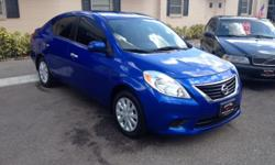 2012 Nissan Versa! Only 80k! 1.6L 4 cylinder Great Fuel Mileage! 30mpg City/ 38mpg Highway Auto, Window Tint, Cold A/C Power windows, locks, mirrors Premium Sound, Am/Fm/Cd Runs like new, looks like new in & out! Nice Car! Don't wait, stop in today for a