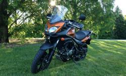 2012 Suzuki V-STROM 650 ABS. LIKE NEW, ALWAYS GARAGED, NEVER RIDDEN IN THE RAIN OR OFF ROAD, NO SCRATCHES, NEVER DROPPED, BARKBUSTERS WITH WIND/RAIN SHIELDS, CRASH BARS/ENGINE GAURDS, SKID PLATE, EXPANDABLE TANK BAG WITH MAP POCKET, 3188 MILES. ABS.