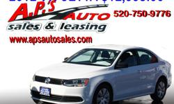 CLICK HERE FOR MORE INFO: http://www.apsautosales.com/vehicle-details/d779a734ca8f48c799b444706f21daca (520) 750-9776 A.P'S Auto Sales 3747 E. Speedway Blvd. Tucson, AZ 85716 2012 Volkswagen Jetta S 4-Door Sedan Exterior Color: White Interior Color: