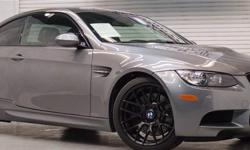 Menu Price $56950.00! Are you ready to step up to the ultimate in German engineering? The 2013 BMW M3 has been highly praised for its oustanding capability on both the road and track. Vigorously tested and developed on Nurenburg racetrack in Germany