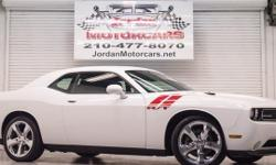 $400.00 monthly payment Clean car fax! One owner! This Challenger R/T is equipped with a Bright White Clearcoat paint job, Dark Slate Gray cloth seats, bluetooth phone capability, automatic transmission, sat radio, and she comes with a 5.7L v8 that