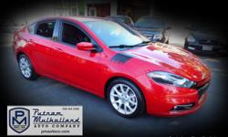 2013 Dodge Dart Rallye Sedan  4cyl, mltiair turbo, 1.4L manual, 6 spd 4 door premium wheels touning suspension stability control rollover protection front and rear head curtain air bags daytime running lights bluetooth wireless tilt & tesescoping