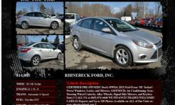 Ford Focus SE 4dr Sedan Automatic 6-Speed Ingot Silver Metallic 29011 I4 2.0L I42013 Sedan RHINEBECK FORD, INC. 845-876-4440