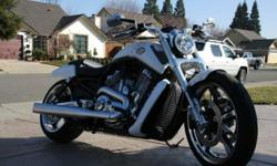2013 Harley-Davidson VRSC. The bike is as NEW, only 399 miles on it. I have HD backrest and luggage rack installed on the bike. Luggage rack has been powder coated white to match the bike. Bike is under manufactures warranty. Feel free to ask any
