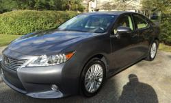 Please message me with questions at: dwaynedvvullo@ukbe.com . 2013 Lexus ES 350 Sedan. This vehicle was garage kept, extra clean. Buy as Christmas gift and save thousands. Beautiful local South Carolina car, never been on snow. Grey exterior; Tan