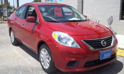 2013 NISSAN VERSA 1.6L 4CYL ENGINE. MILES 35,336 , RED WITH GRAY COLTH INTERIOR. PLEASE CALL FINANCING AVILABLE! ASK FOR STEVE OR MIKE! MORE CARS, TRUCKS AND SUV'S AVILABLE! ALL MAKE AND MODELS! VERY CLEAN INVENTORY!