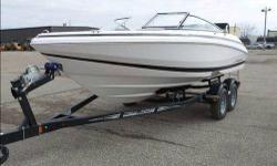 225 Volvo motor, 2015 Karavan trailer and snap cover is included, everything is in excellent condition. It is on a lake by Detroit Lakes so if interested, you can check it out and take it for a ride. http://www.caboats.com/used-boats/9479.htm
