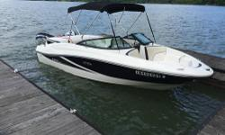 2013 Sea Ray 190 Sport. Priced to Sell. Only 55 Hours. Fun, sleek boat, perfect for lounging on the lake or pulling skiers or tubing. Gas efficient 3.0L MPI Alpha MerCruiser. Extended swim platform. AM/FM/CD/MP3/Aux input Sony sound system. Includes