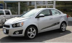 2013 Silver Chevrolet Sonic LTZ Sedan I4 Turbo! 53K Miles! #U8946C - $10995 (Ravena NY) 2013 CHEVROLET SONIC LTZ condition: like new fuel: gas odometer: 53101 title status: clean transmission: automatic 2013 CHEVROLET SONIC LTZ TURBO! FUN!! LOADED! Black