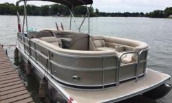 South Bay 522 CR; 23ft 7 in; 8ft 6 in beam; forward and aft deck; 60 HP Mercury with 210 hours; Stored inside in winter; covered summer; no trailer.