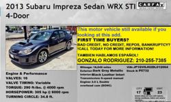 Gonzalo Rodriguez 210-255-7385   We have high quality vehicles in our inventory and affordable prices for everyone, we have different brands of vehicles. We also work with different finance companies and banks that offer second chance