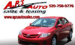 http://clients.automanager.com/007066/vehicle-details/2e7ec77366784761838a4c1596fb98bd (520) 750-9776 A.P'S Auto Sales 3747 E. Speedway Blvd. Tucson, AZ 85716 2013 Toyota Corolla 4-Door Sedan Exterior Color: Red Title: Clear Transmission: Automatic Fuel: