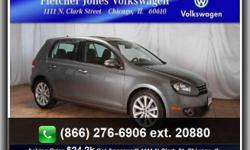 CERTIFIED 2013 VW GOLF TDI W/ Navigation and Sunroof 4door Golf. Big MPG's out of this 2.0L Diesel engine, DSG automatic w/Paddle shifters, Navigation, 17'' alloy wheels, Bluetooth, Sirius satellite radio, Keyless entry, Cruise control, Climate control