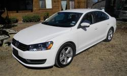 2013 Volkswagen Passat SE 2.5 liter 5cyl. Automatic transmission, 14k miles 4 door, power windows, door locks,and power seats, AmFm Cd player, Alloy VW rims, This amazing car is White with gray leather interior, runs and