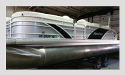 2014 Aqua Patio-- 240 Elite PRICE: 46,000.00 Length: 25 feet 9 inches Tri-Toons 27 inches (diameter) 50 Gallon Fuel Tank 84 hours Motor: Mercury 250 HP Optimax/OPTIMAX Pro-SS Color : Silver w/Black rail inserts, French Vanilla colored interior