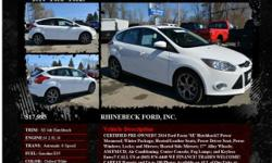 Ford Focus SE 4dr Hatchback Automatic 6-Speed Oxford White 10860 I4 2.0L I42014 Hatchback RHINEBECK FORD, INC. 845-876-4440
