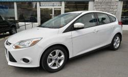 2014 FORD FOCUS 'SE' HATCHBACK!! Power Windows, Locks, and Mirrors; AM/FM/CD; Sync; Air Conditioning; 16 Alloy Wheels; Steering Wheel Controls; and Keyless Entry!! All of our inventory is detailed/serviced/inspected and ready to go! Call John or Rob at