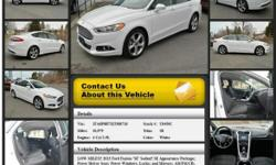 Ford Fusion SE Automatic 6-Speed White 10979 4 Cyl 2.5L 2014 Sedan Crossroads Ford 518-756-4000