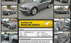 Ford Mustang V6 Convertible Automatic 6-Speed Sterling Gray Metallic 18015 V6 3.7L 2014 Convertible Crossroads Ford 518-756-4000