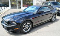 2014 FORD MUSTANG V6 'PREMIUM' CONVERTIBLE!! Black Vinyl Convertible Roof; Power Driver Seat; Power Windows, Locks, and Mirrors; 'Shaker' Audio System; Sync; Sirius; Air Conditioning; Steering Wheel Controls ;17 Alloy Wheels; Dual Exhaust; Strut Tower