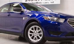 Menu Price $19950.00! One owner, clean Carfax! Ford Factory Certified 2014 Ford Taurus SE! Finished in Deep Impact Blue with Dune cloth interior, power windows, locks and mirrors, Sync, remote keyless entry, aluminum wheels, and more. And with Ford's