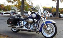 2014 Harley-Davidson FLSTNSE Screamin' Eagle Softail Deluxe Custom Vehicle Operations (CVO) 110 Cubic Inch (1800cc) Couner Balanced Twin Cam Powerplant 6-Speed Transmission As Good As New !! Only 228 Miles Under Factory Warranty Until 2015 Candy Cobalt