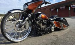 2014 Harley-Davidson Touring CUSTOM LAY FRAME 2014 STREET GLIDE FX REAR SHOCKS CUSTOM ONE OFF BARS 103 MOTOR TRASK TURBO COMES WITH IT NOT INSTALLED 30 WHEEL FRONT AND REAR AIR TO MUCH TO LIST Any questions don't hesitate to e-mail me :